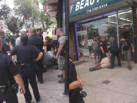 Black Man Eric Garner killed