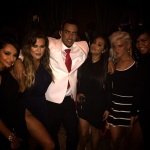 French Montana celebrates his 30th birthday With the Kardashian family.