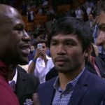 Mayweather and Pacquiao sealed the deal. Shook on it during  Miami Heat game
