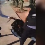 video: young woman beaten on side of the road with baby & stroller