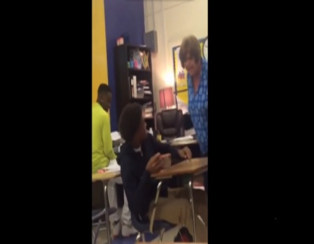 Texas Teacher Smacks A Student For Being Disruptive In Class!