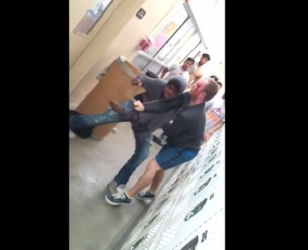 Teacher Covered In Blood After Fight Between Him & Student.