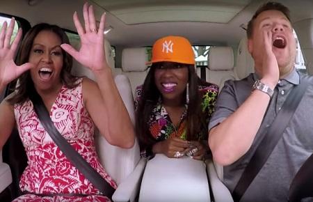 Michelle Obama Does Carpool Karaoke With James Corden's & Missy Elliott.
