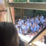 Beautiful: 400+ Students Show Up & Sing To Teacher Battling Cancer Outside His Home!