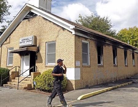 black-church-set-on-fire-and-tagged-with-vote-trump-graffiti