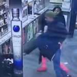 Girl Pushes & Throws An Old Lady In Garbage Can In Liquor Store (Video).