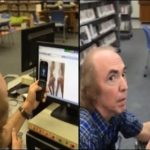 San Diego Man Being Inappropriate In The Kid Section Of A Public Library!