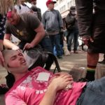 Trump supporter smashed in the head with U-Lock by masked Thug in Berekely