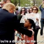 "Viral Video Of Girl Telling Trump ""You're A Disgrace To The World"" Is Fake."